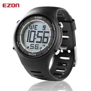 Высотомер EZON, барометр, термометр, компас, прогноз погоды, уличные мужские цифровые часы, спортивные часы, часы для скалолазания, походные на...