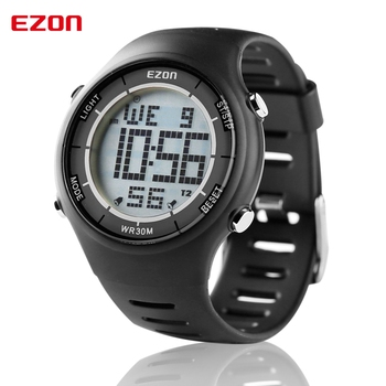 EZON Altimeter Barometer Thermometer Compass Weather Forecast Outdoor Men Digital Watches Sport Hours Climbing Hiking Wristwatch sunroad fx712b digital fishing barometer watch w altimeter thermometer weather forecast time