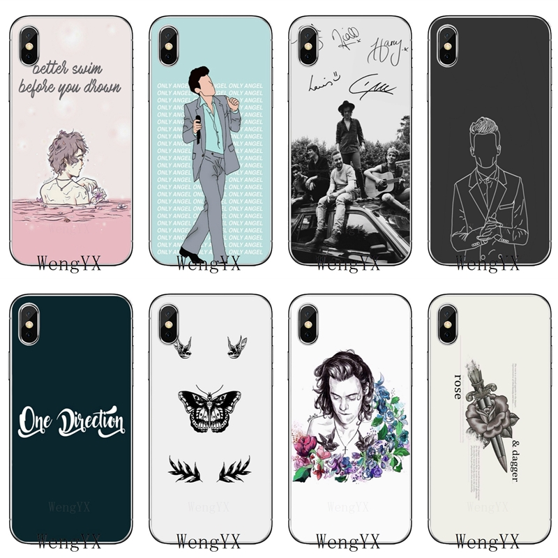 Us 1 89 5 Off Larry Stylinson Tattoos One Direction Slim Tpu Soft Phone Cover Case For Apple Iphone 4 4s 5 5s 5c Se 6 6s 7 8 Plus X Xr Xs Max In