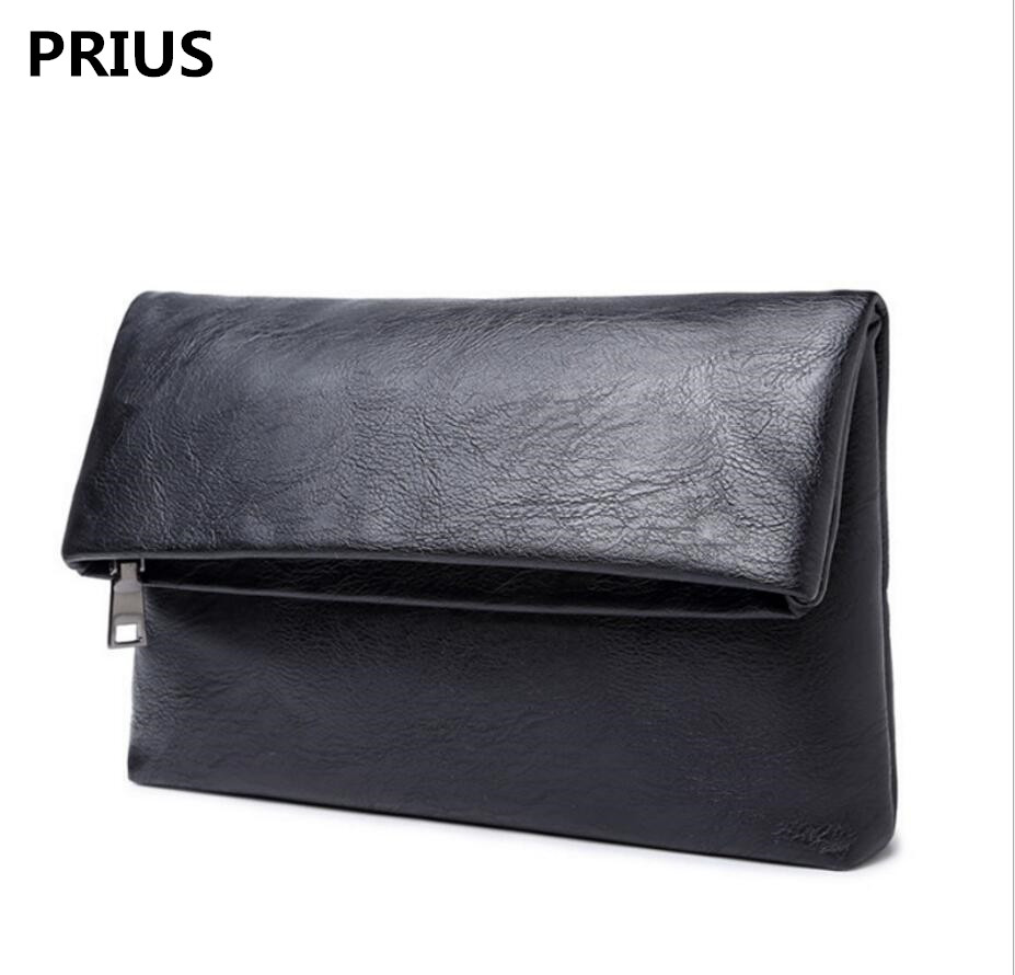 PRIUS 2017 autumn and winter mens mens folding hand bag holding the package of cash hand bag men leisure business handbag