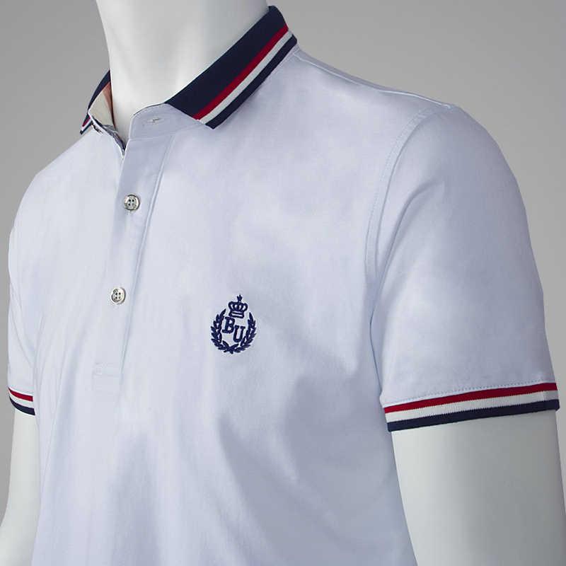 2019 Verão Camisa Polo dos homens Marca de Moda de Alta Qualidade Camisa Polo Homme Dos Homens Ocasional 100% Algodão de Manga Curta Respirável s-10XL