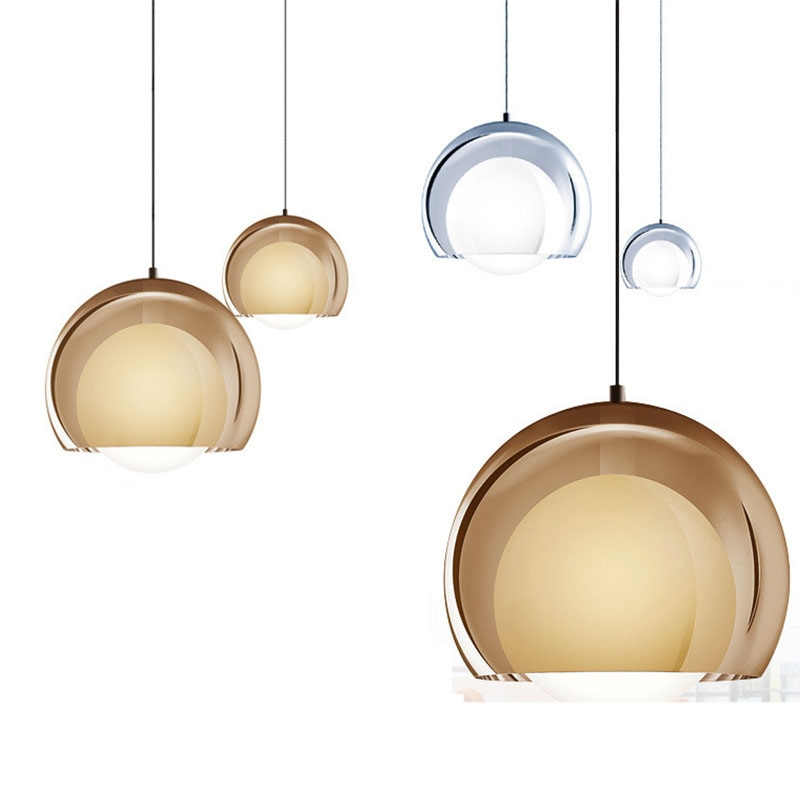 Famous design Nordic Modern Ball Glass Pendant Lights Lampshad Loft Hanging Lamp E27 Loft for Bedroom Dining Study RoomFamous design Nordic Modern Ball Glass Pendant Lights Lampshad Loft Hanging Lamp E27 Loft for Bedroom Dining Study Room