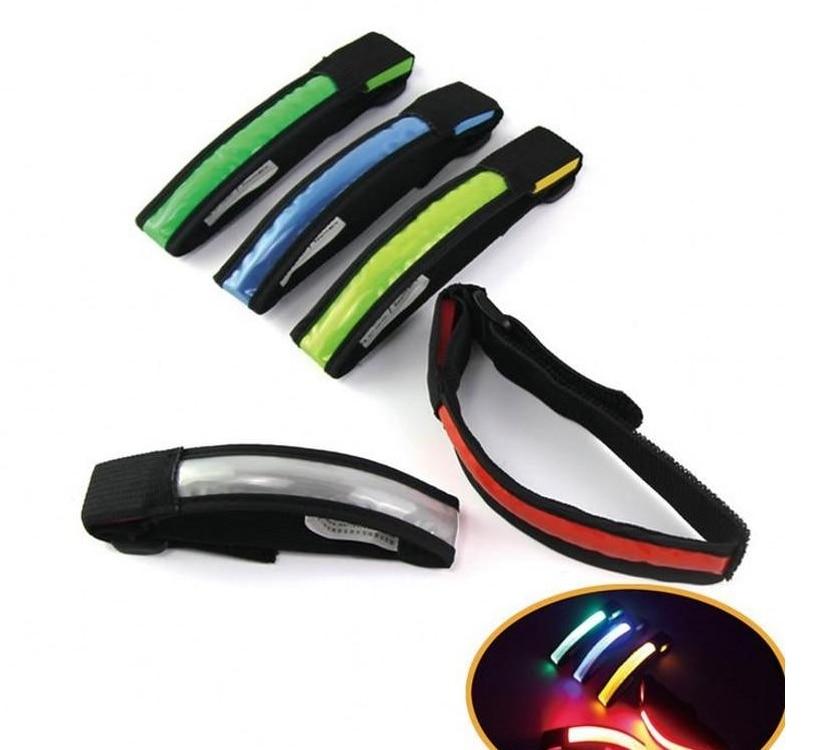 Correa de mano pulsera LED de seguridad reflectante luz brillante brazalete luminoso correa de brazo soporte de muñeca