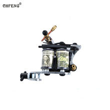 Handmade  Tattoo Gun Rotary Tattoo Machine Motor Liner Shader Silent Running Tattoo Gun for Body Art Tattoo Gun Free Shipping crazy hot sales sliver sunskin primus rotary tattoo machine for shader liner high quality motor gun tattoo gun free shipping