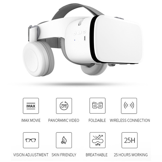 BOBOVR Z6 Upgrade 3D Glasses VR Headset Google Cardboard Bluetooth Virtual Reality Glasses Wireless VR Helmet For Smartphones 6