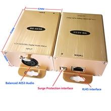 Цифровой аудио адаптер AES/EBU аудио RJ45 конвертер равновесные наушники более Cat5