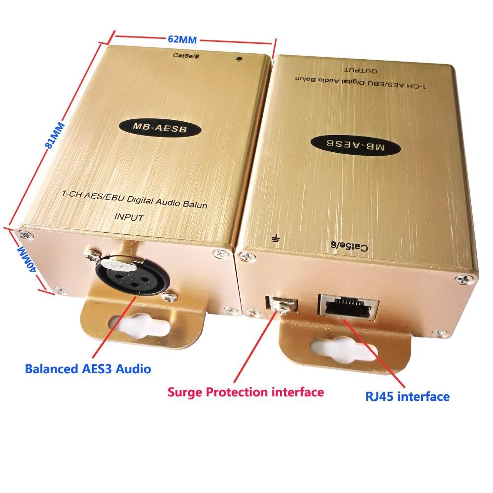 Balanced AES/EBU Digital Audio to RJ45 Converter Cat5 Digital AES/EBU Audio to Cat5 Balanced Digital Audio to Cat5 кабель цифровой vovox link direct sd100 aes ebu
