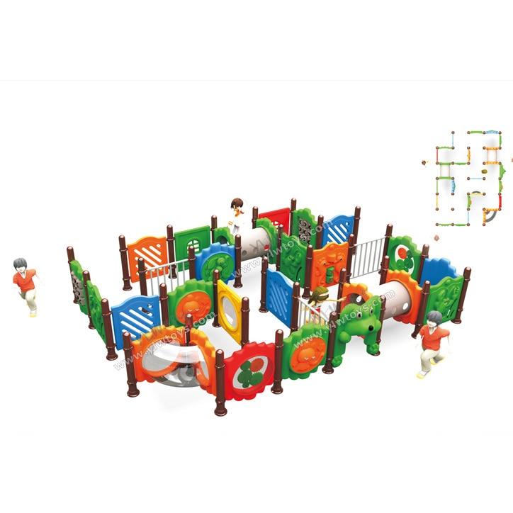 Aire de jeux extérieure de labyrinthe de docteur, labyrinthe en plastique d'intérieur de labyrinthe d'enfants, jouets éducatifs en plastique de grille, labyrinthe multifonctionnel extérieur de grille