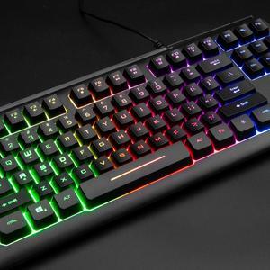 Image 5 - Rii RGB משחקי מקלדת RK104, תאורה אחורית מקלדת, קטן קומפקטי 87 מפתחות מחשב מקלדת עבור Windows PC מחשב נייד שולחן עבודה