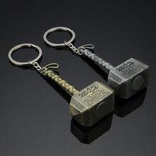 10 Pcs / Set Thor hammer Keyring  Avengers keychain souvenir keys magical Movie superhero Party gifts birthday giveaway