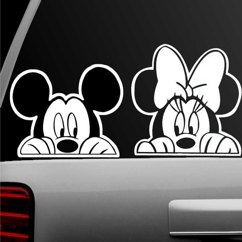Adesivo automático mickey mouse e minnie mouse combo decalque da janela para o portátil da motocicleta do caminhão do carro, ipad, parede (mickey minnie combo)