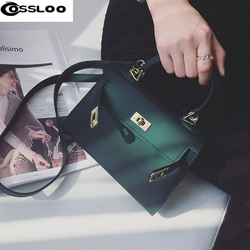 COSSLOO 2018 Famous designer brand bags women leather handbags Chain Solid Shoulder Bag mini bag Woman Messenger Bag purses цена 2017