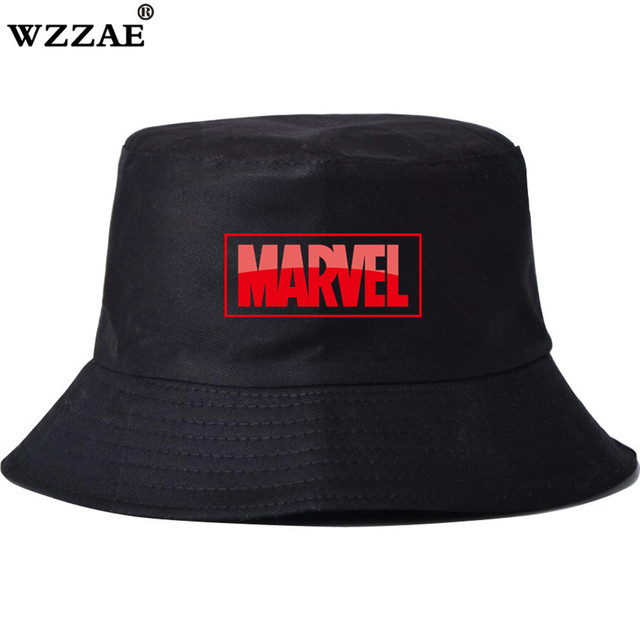 ... best price for marvel unisex harajuku bucket hat fishing outdoor  printed sunhat cap mens summer fisherman ... 9dd9228285eb