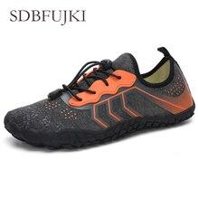 лучшая цена 2019 New Outdoor men shoes Women Aqua Swimming Footwear Seaside Walking Cheaper Breathable Quick dry Beach Five fingers Shoes