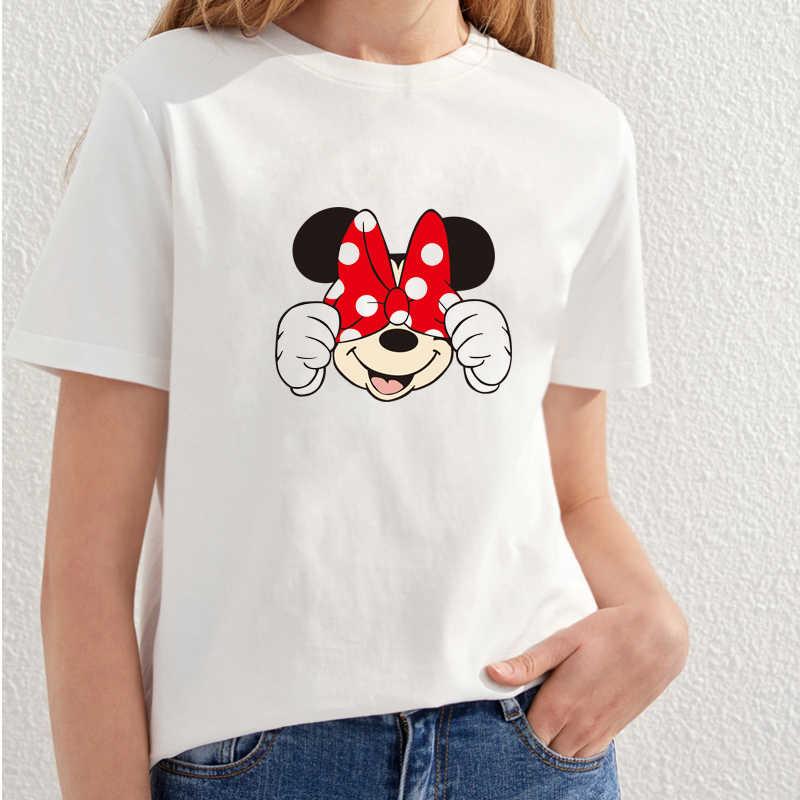 Hot sale 2018 Fashion Summer t shirt women tshirt mouse womens tee shirts  Cartoon cat printed 002dc302a