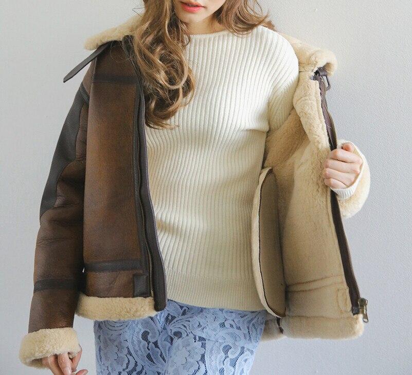 Ont Suede Moto Dames D'hiver Daim Nouvelle La F3602 Manteau Veste En Frappé Coffee Femmes Agneaux Mode Chaud Femme Laine 2018 Épais Couleur Cuir cnqzUXAq