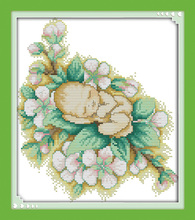 Four season baby , counted printed on fabric DMC 14CT 11CT Cross Stitch kits,embroidery needlework Sets, Home Decor