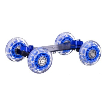 DSLR Camera Video Camcorder Rail Track Slider 4 wheel Table Dolly Car with blue wheel image