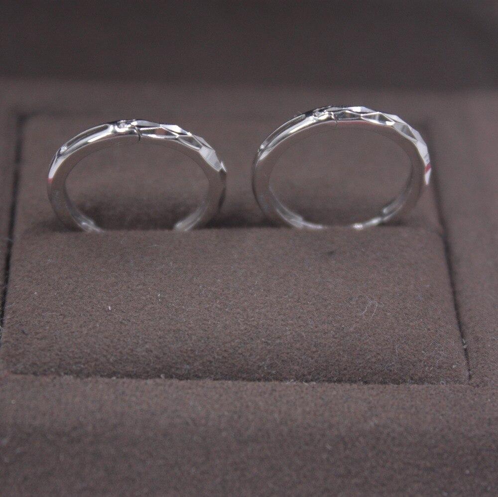 Solide 18 K or blanc boucles d'oreilles ensemble boucles d'oreilles cerceau AU750 femmes cadeau mignon boucles d'oreilles 1.8-2.0g bijoux de tous les jours meilleur cadeau - 4
