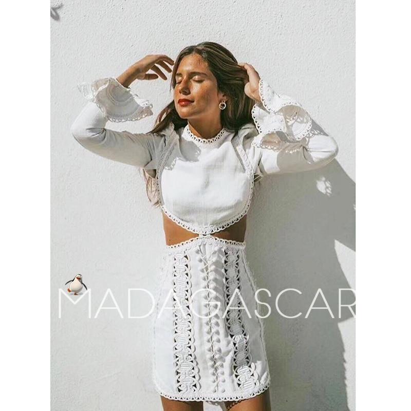 Новое дизайнерское подиумное платье для женщин высокого качества сексуальное ажурное вышитое платье на пуговицах с длинными рукавами праз...