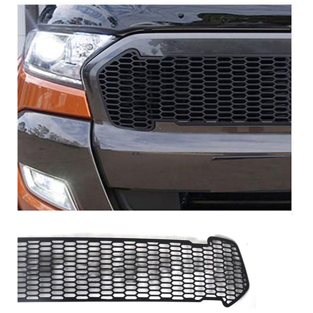 BoomBoost Led front Racing grill grille for Ford ranger T7 2016-2017 LED light for choice 4 colors available best selling abs decorative led emblem logo light front grille for f ord r anger t7 2016 2017 car styling 4 colors grill lamp