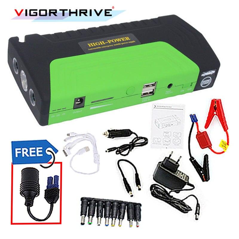Mini dispositif de démarrage d'urgence booster pour voiture essence 600A batterie 12 V démarreur voiture saut démarreur Portable batterie externe chargeur de voiture
