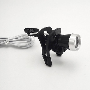 Image 5 - Rechargeable surgical led head light with clip on clamp adjustable brightness operation headlamp clip dental medical headlight