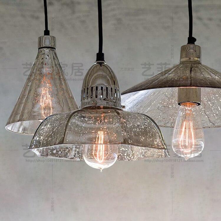 Rétro industriel loft antique mercure verre pendentif lumière café restaurant unique suspension lampe