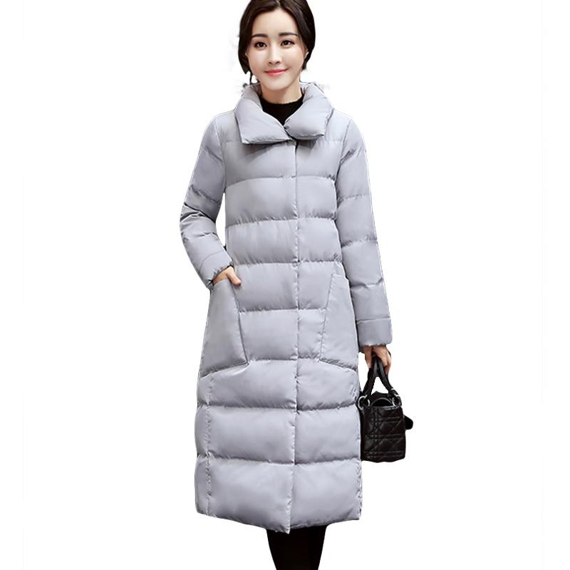 2018 Big size Long Women Winter Jacket Coats Thick Warm cotton   parkas   Coat Female High Quality Winter outerwear overcoat jacket