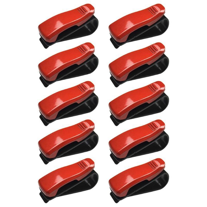 5/10 шт. Универсальный Авто Автомобильный солнцезащитный козырек, очки, солнцезащитные очки для женщин карты квитанции зажимы держателя установлен на солнцезащитном козырьке держать безопасно - Color Name: 10PCS Red