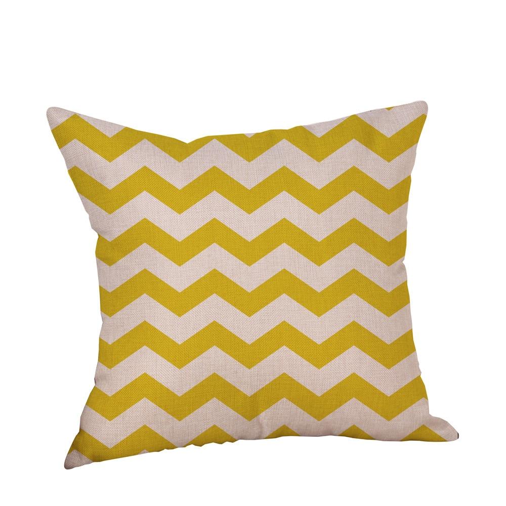 2017 Decorative Pillow Cover Mustard Yellow Geometric Fall Autumn ...