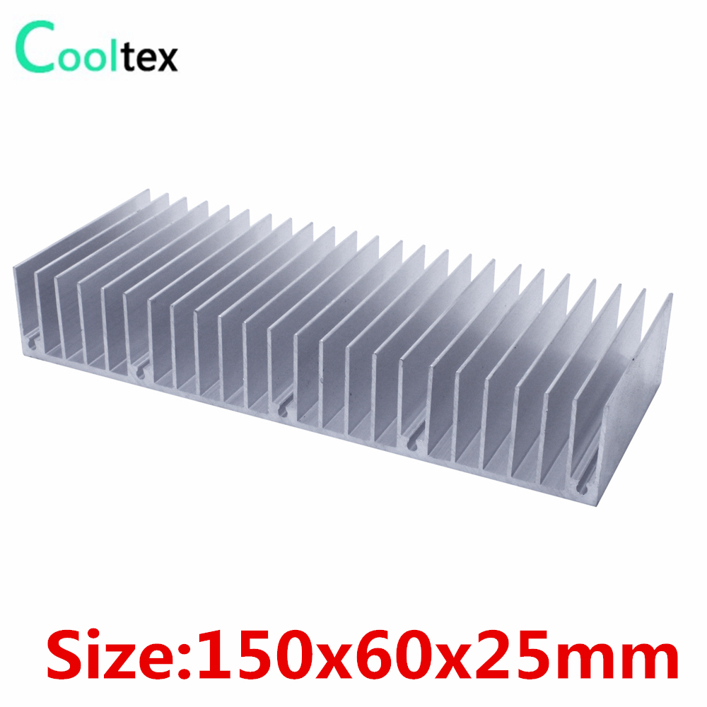 (5pcs/lot) High quality 150x60x25mm radiator Aluminum heatsink heat sink for LED Electronic Power Amplifier cooling cooler high power 125x125x45mm aluminum heatsink heat sink radiator for electronic chip led cooler cooling recommended