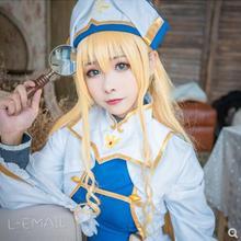 6ae4902b1 Duende Anime cazadora Onna fumadores Cosplay traje sacerdotisa Perucas las mujeres  vestido de Cosplay uniforme de niña traje de .