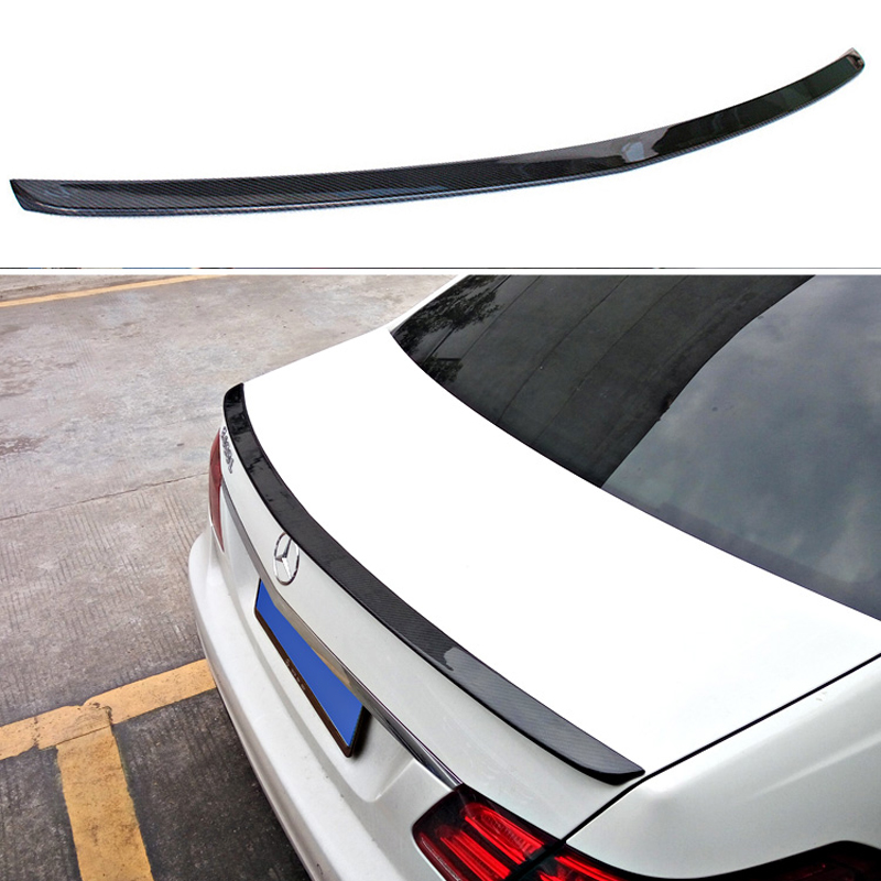 Mercedes W212 Car Styling Carbon Fiber Replacement Spoiler For Benz E Class W212 AMG Style 2010+ Rear Trunk Tail Spoiler Wing mercedes s class w221 2005 2013 amg style carbon fiber cf spoiler rear trunk wings tail lip for benz s320 s400 s420 s450 s600