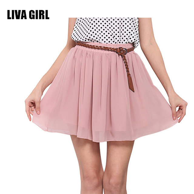 aliexpress buy liva girl summer skirts womens high waist
