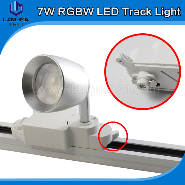 2 Lines Phase Lighting Rail System Remote Control Track Spot Decorative Lamp For Living