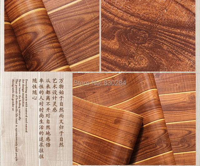 Online Shop Chinese Wallpaper Wood Wall Paper Floor Wallpaper For