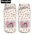 Deanfun Новый 3D Напечатаны Pusheen Любовь Женщины Носки Симпатичные Носки Low Cut Лодыжки, Носки Несколько Коробки Мода Стиль NW08
