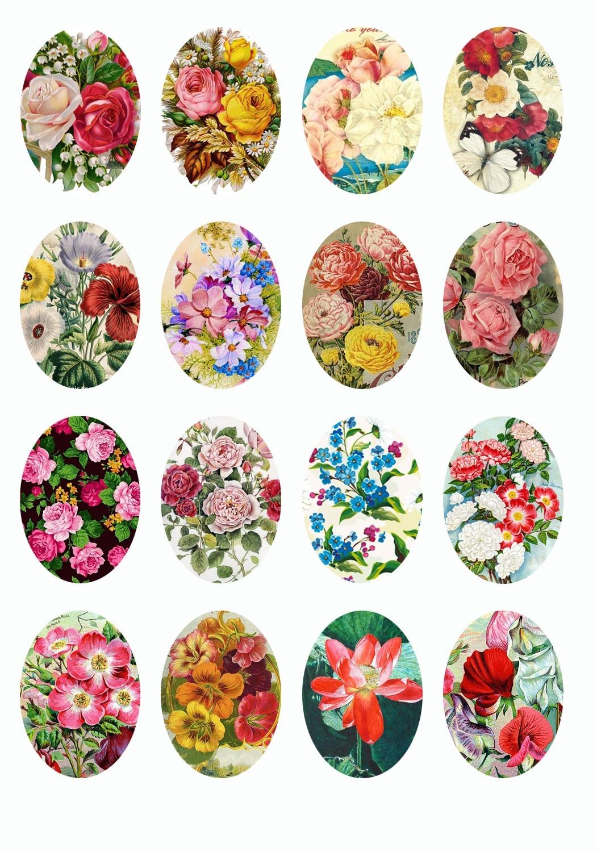 10pcs 10x14/13x18/18x25/20x30/25x35/30x40mm Handmade Oval Shape Flower Photo Glass Cabochons Dome Z-G1338 цена и фото