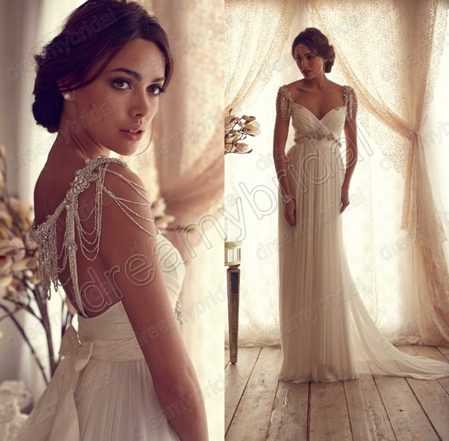Vintage Wedding Dresses with Beads