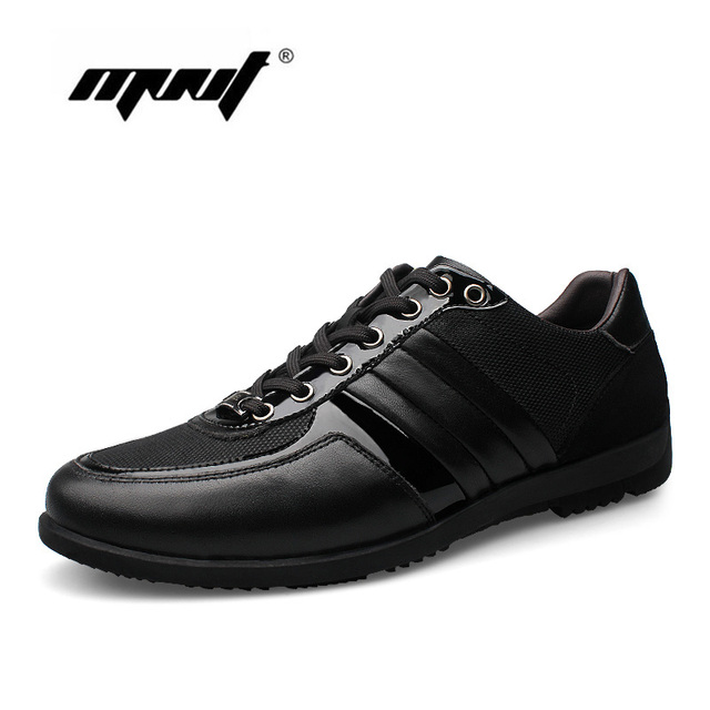 Genuine leather men casual shoes fashion breathable shoes men lace up Handmade shoes design flats shoes