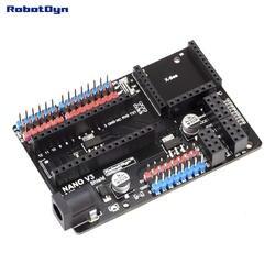Nano V3.0 I/O & беспроводной щит, для Arduino Nano V3 расположения выводов. (В сборе)