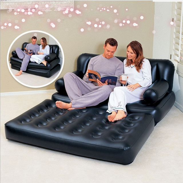 Us 80 54 30 Off Inflatable Sofa This Intex Lounge Blow Up Pull Out Queen Size Air Mattress Couch Best For Indoor Or Outdoor Use Airbed In Living