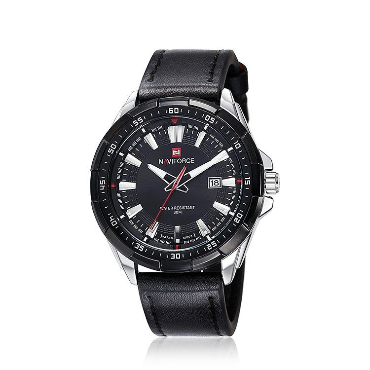 Mens Watches Top Brand Luxury NAVIFORCE Sport Men's Quartz Watch Waterproof Wristwatch Leather Male Clock Relogio Masculino 12