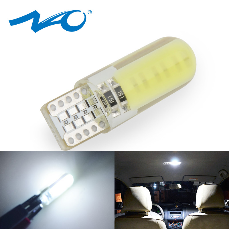 NAO <font><b>100x</b></font> <font><b>T10</b></font> W5W led bulb car 1.7W interior Light lamp for Auto 12V 5W5 For BMW Clearance reading reverse bulbs white yellow red image