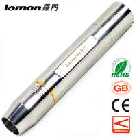 Stainless Steel LED Flashlight White/Yellow Light Waterproof Jewelry Jade Gem Testing Torch Rechargeable Powerful Pocket Light