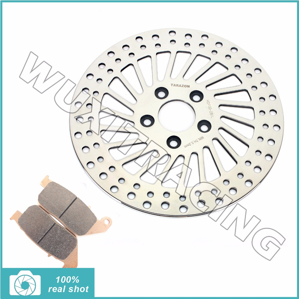 11.5 Front Brake Disc Rotor + Pads for HARLEY DAVIDSON Sportster 883 XL LOW Standard Custom 04-13 1200 XL N V X Nightster 08-13 mtsooning timing cover and 1 derby cover for harley davidson xlh 883 sportster 1986 2004 xl 883 sportster custom 1998 2008 883l