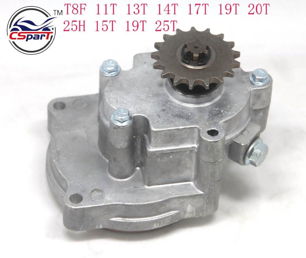 11 13 14 15 17 19 20 25 Tooth 25H T8F Transmission Gear Box For 33cc 43cc 49cc 52cc Ty Rod II Go Kart Quad Scooter XTreme
