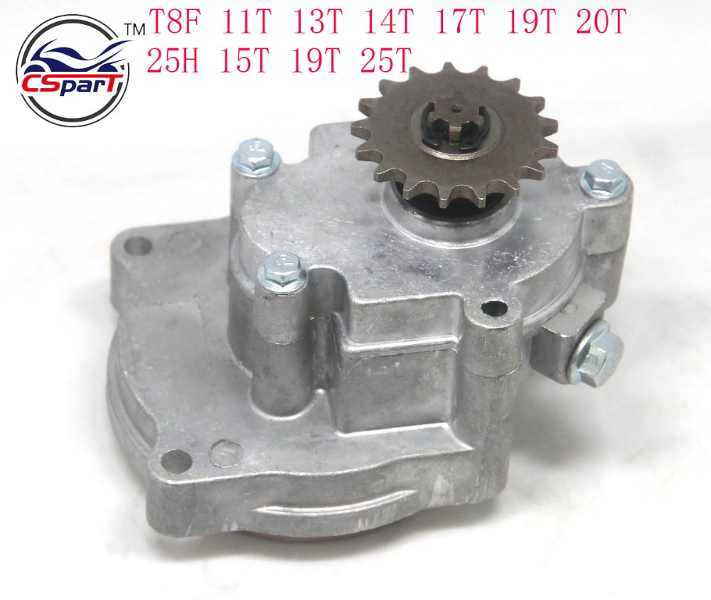 11 13 14 15 17 19 20 25 Tooth 25H T8F Transmission Gear box For 33cc 43cc 49cc 52cc Ty Rod II Go Kart Quad Scooter XTreme