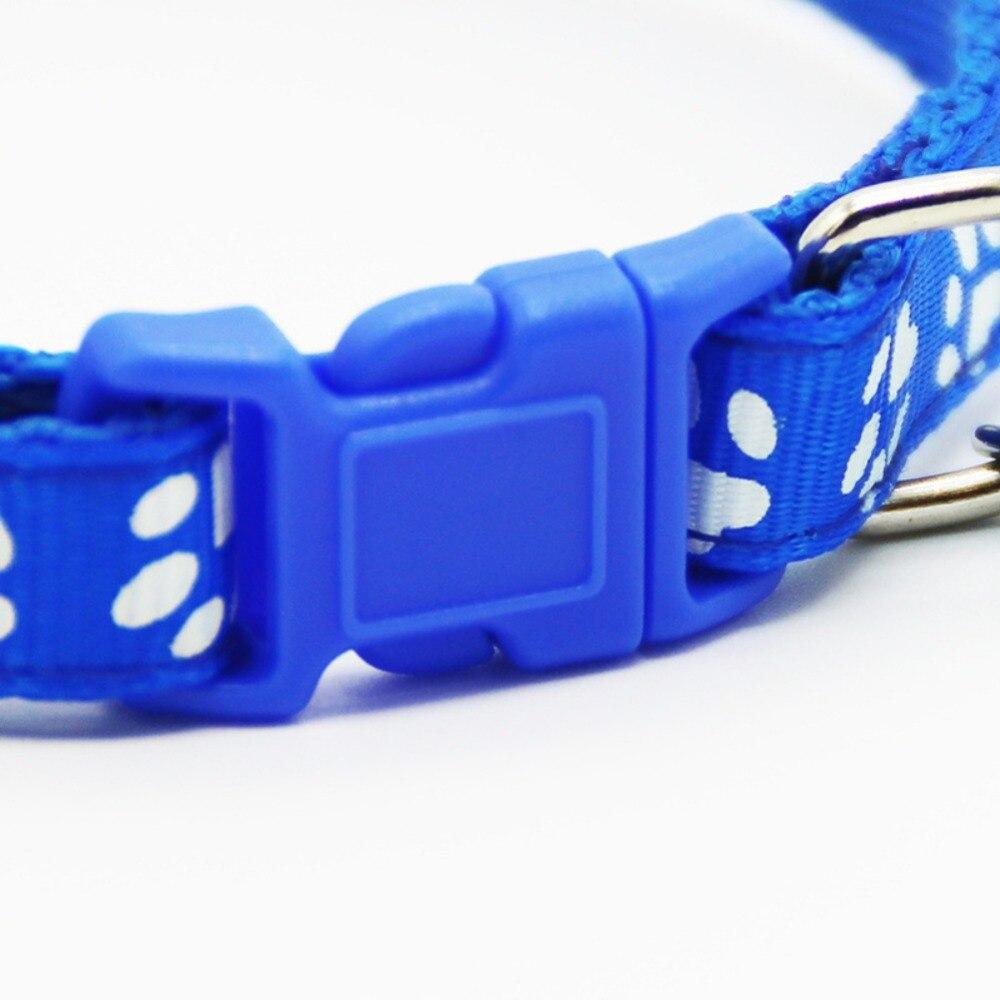 Collier pour animaux de compagnie chien chat accessoires pour animaux de compagnie empreinte de sécurité réglable en Nylon laisse colliers avec cloche accessoires pour animaux de compagnie - 4